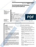 NBR 12722 - 1992 - Discriminação de Serviços Para Construção de Edifícios