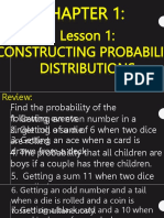C1 Lesson 2- Constructing Probability Distribution
