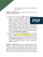 Promesa de Compra - Venta Sr. Héctor Pino y Sra. Margarita Ocaña