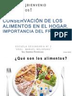 COnservacion de los alimentos en el hogar. importancia del frio