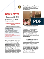 Rotary Club of Moraga Newsletter for Dec. 11 2018