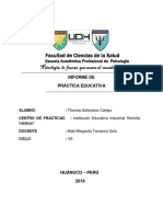 Informe Final de Práctica Educativa Thomm