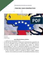 La Teoria Del Caos Constructivo - Venezuela