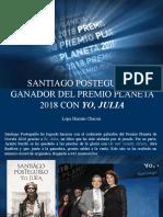 Lope Hernán Chacón - Santiago Posteguillo, Ganador Del Premio Planeta 2018 Con Yo, Julia