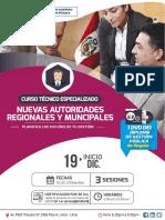 CURSO PRESENCIAL DE GESTIÓN PÚBLICA PARA NUEVAS AUTORIDADES REGIONALES Y MUNICIPALES - DICIEMBRE 2018
