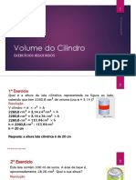 Volume do Cilindro_Exercícios Resolvidos