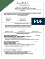 a getz resume 2017-2018 pdf