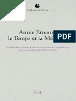 Annie Ernaux _ Le Temps Et La Memoire - Collectif