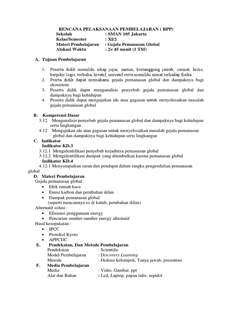 328112443 Rpp Gejala Pemanasan Global Docx