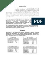 PROPOSICION Modificatoria Proyecto No 063
