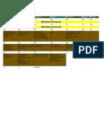 Calendário Acadêmico de 2019