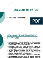 6. Infringment of Patent