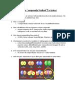 Organic Compounds Student Worksheet- Teacher Key