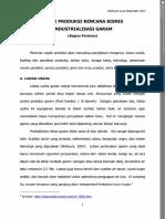 Aspek Produksi Rencana Bisnis Industrialisasi Garam (Bagian Pertama)