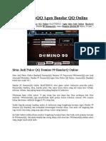 99DominoQQ Agen Bandar QQ Online.docx