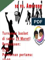 poster basketbaltoernooi tondano