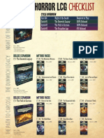 Arkham Horror LCG Checklist v1.15
