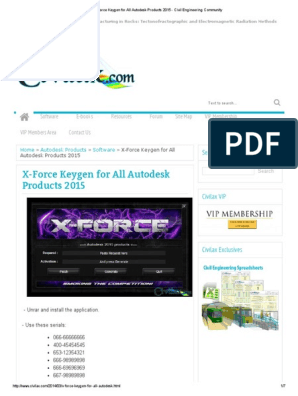 X-Force Keygen for All Autodesk Products 2015