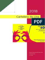 Cartelera del 40 Festival de Cine Latinoamericano en La Habana, dic.2018.
