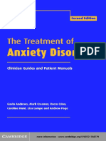 The treatment of anxiety