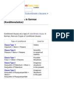 Conditional Clauses in German (Konditionalsätze)