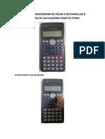 Guia Para Transformar de Polar a Rectangular o Viceversa en Calculadora Casio Fx-570ms