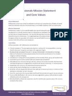 PARfessionals Core Values