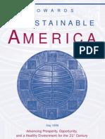 Towards a Sustainable America Bill Clinton 1999