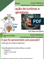 06-Especificação Das Turbinas e Geradores