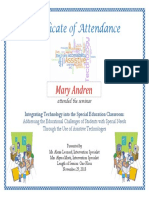 certificate of attendance for special ed tech integration  1