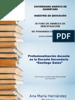 """Profesionalización docente en la Escuela Secundaria """"Santiago Galas"""""""