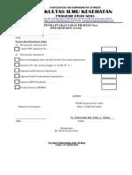 Pendaftaran Ujian Ners