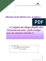 Adoption des changes flexibles dans léconomie marocaine quelle stratégie pour une adoption ordon