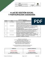 Plan de Gestión Social y Participación Ciudadana