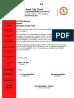 Letter for Speaker