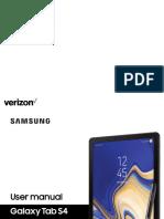 Samsung Galaxy Tab s4 MANUAL