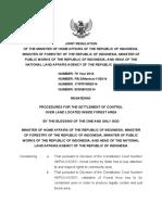 Joint Minister Regulation