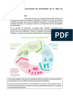 Planificacion y Evaluacion de Actividades en El Area de Educacion Fisica