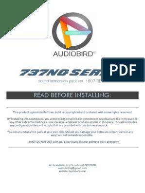 737Ng Series: Read Before Installing