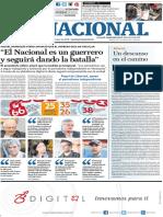 Edición impresa del diario El Nacional correspondiente al 14 de diciembre de 2018