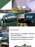 ALINEACIÓN DE LA DIRECCIÓN