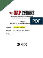 TRABAJO TECNICAS DE EXPRESION ESCRITA