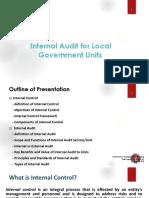 Internal Audit for LGUs