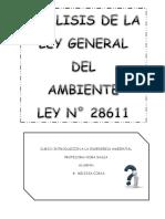 Análisis de Ley General Del Ambiente