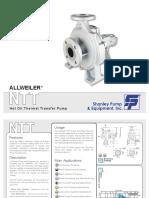Allweiler Ntt Series Dimensions