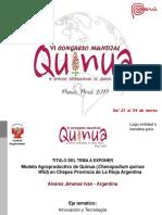 Modelo Agroproductivo de Quinua (Chenopodium quinoa Wild)  - Alvarez Jimenez Ivan