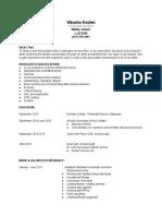 resume 2018 - google docs