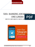 500 Banking Awarenes One Liner