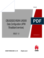 5 MSAN UA5000 Data Configuration APM Broadband Services