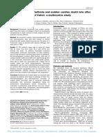 Arrhythmia and sudden cardiac death in TOF post repair